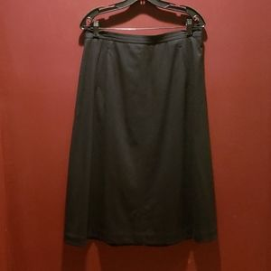 Beautiful Talbots Black Italian Wool Skirt